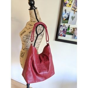 Cherry Leather Whipstitch Bag   Express 🍒